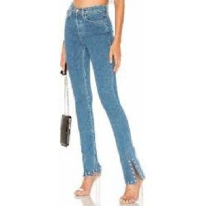 CofH High Rise Rocket Split Hem Stud Skinny Jeans